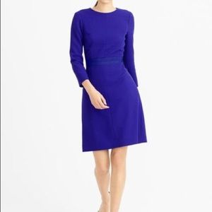 J. Crew Long Sleeve Double-Faced Wool Crepe Dress